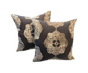 Moroccan Latte Burnout Velvet Pillows