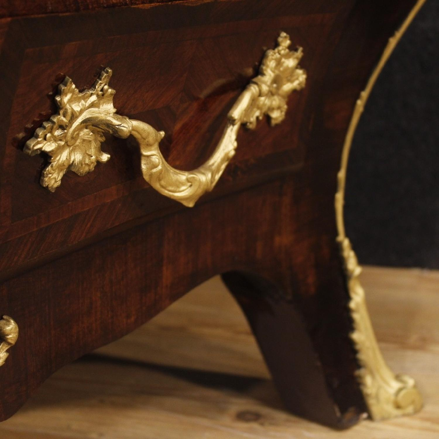 French Dresser In Wood w/ Marble Top & Gilt Bronzes