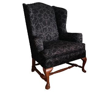 Vintage High Back Wing Chair ...
