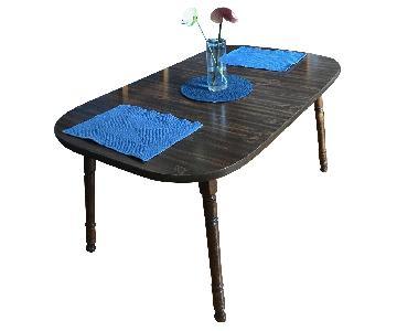 Vintage Dark Wood Extendable Dining Table