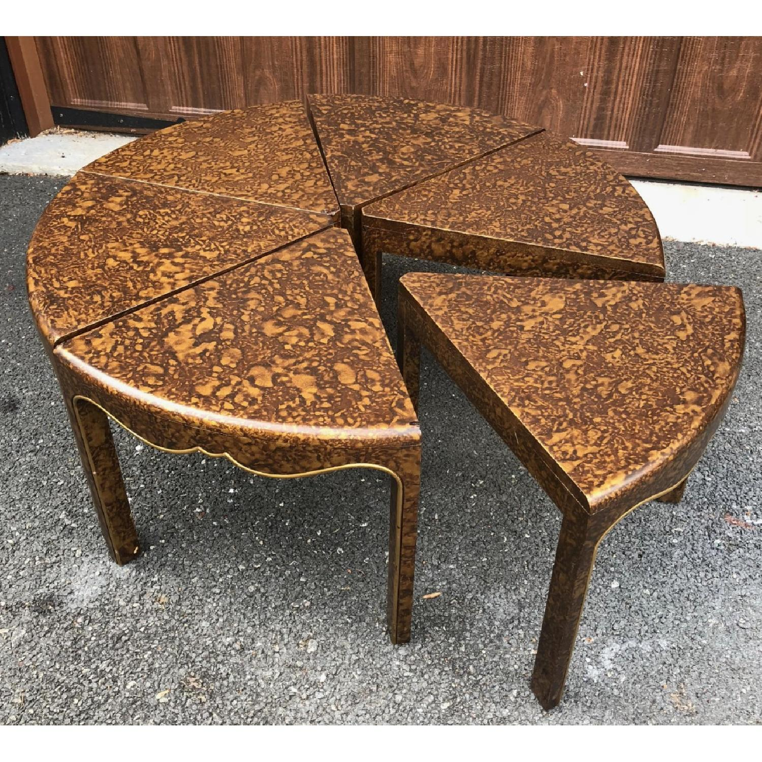 Chinoiserie Chic Mid Century 7-Piece Dining Set