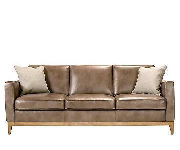 Raymour & Flanigan Berkley Leather Sofa