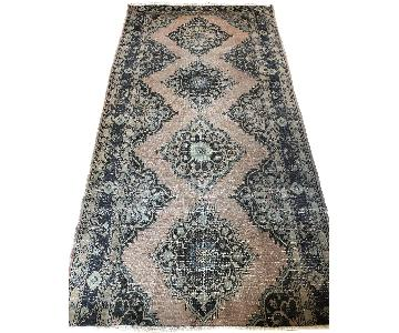 Vintage 1960s Handmade Turkish Wool Rug