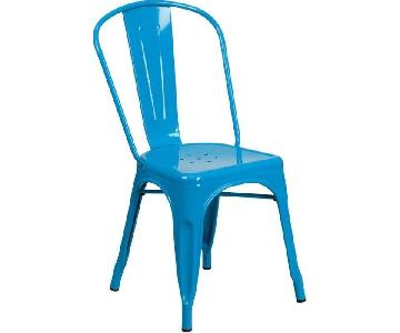 Aqua Metal Bistro Chairs