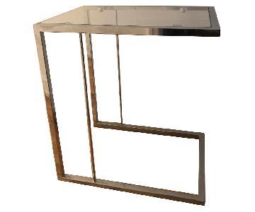 BoConcept Glass & Metal Slide-Under Side Table