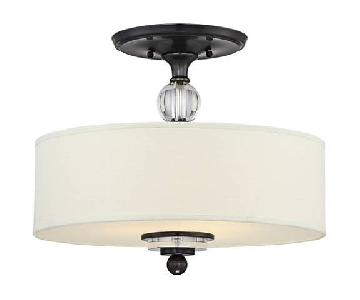 Quoizel 3 Light Fixtures w/ Fabric Drum Shade