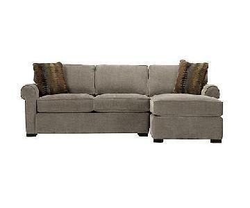Raymour & Flanigan Raina Chaise Sectional Sofa