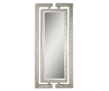 Uttermost Metallic Burnished Wood Framed Floor Length Mirror