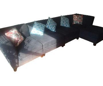Raymour & Flanigan 3-Piece Sectional Sofa