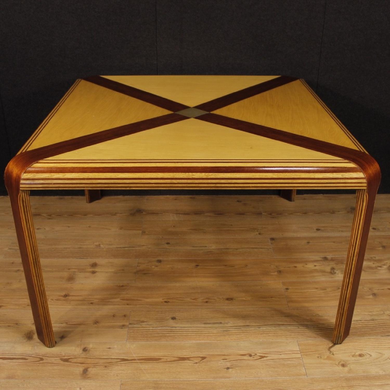 Italian Design Table in Maple, Mahogany & Painted Wood