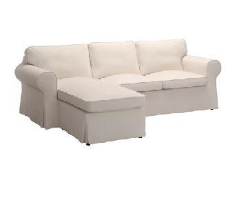 Ikea Ektorp 2-Piece Sectional Sofa in Lofallet Beige