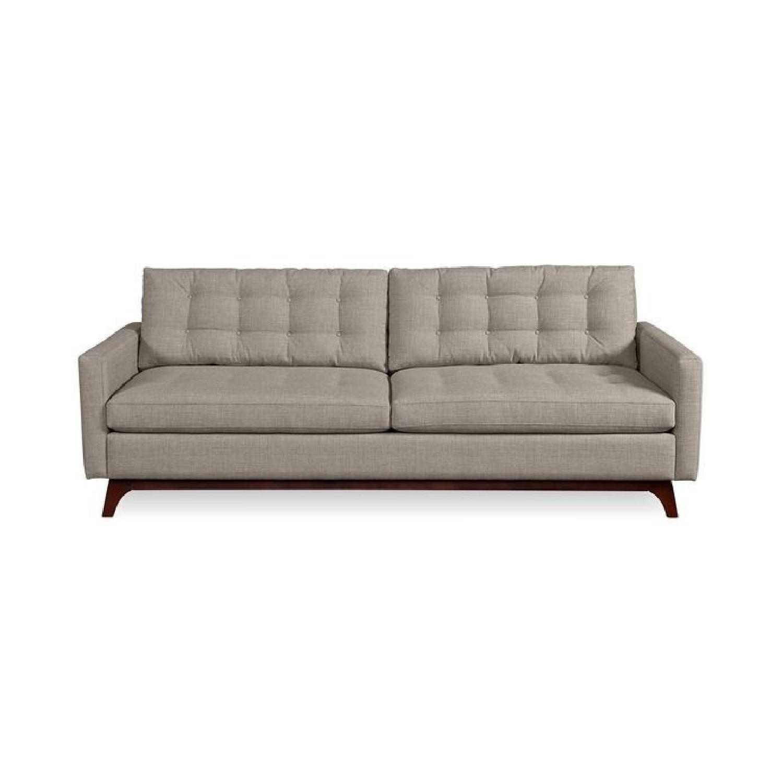 Macy's Karlie Mid-Century Grey Tufted Sofa