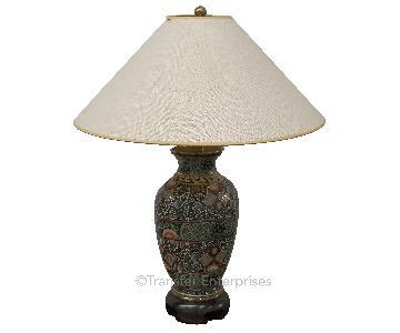 Black Patterned Desk Lamp