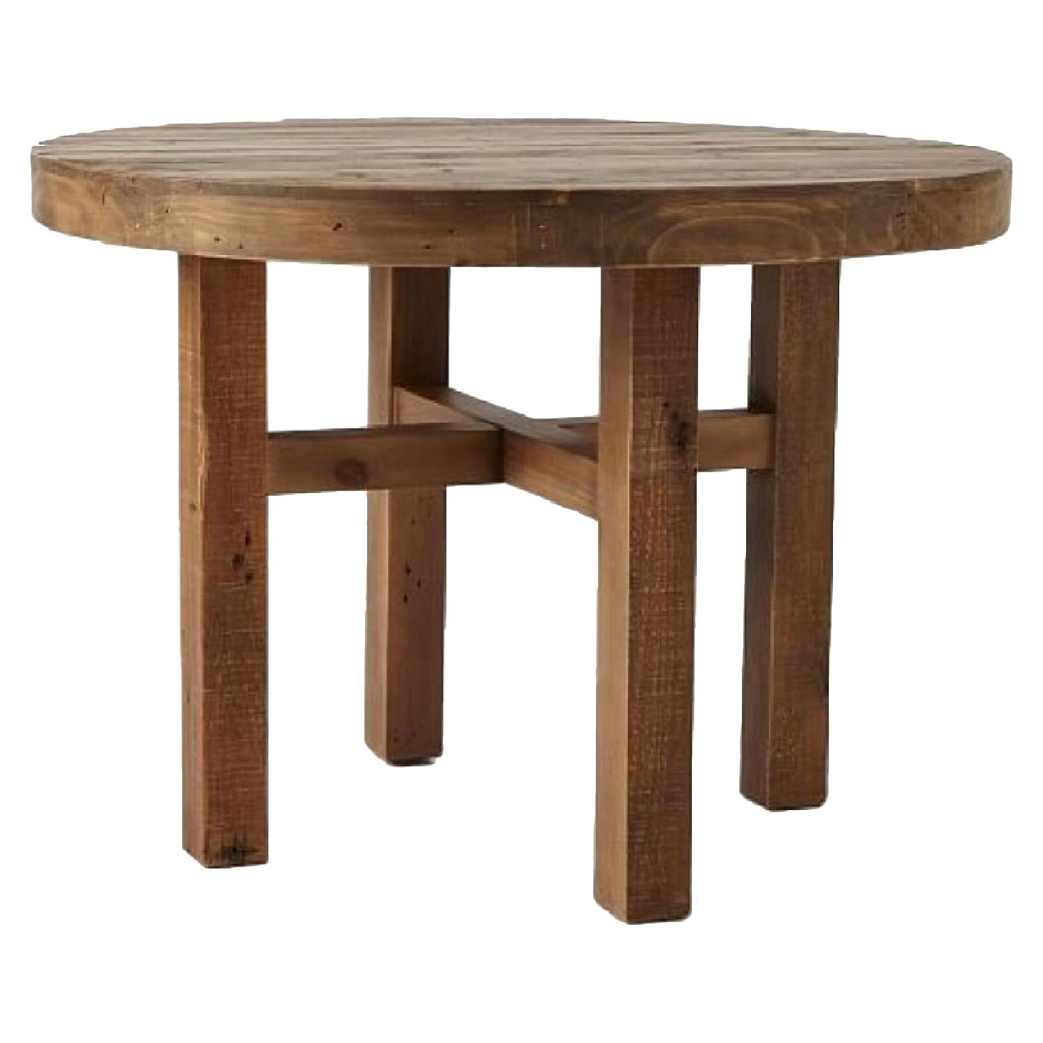 West Elm Emmerson Reclaimed Wood Round Dining Table AptDeco - West elm emmerson reclaimed wood coffee table