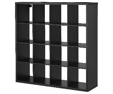 Ikea Expedit Black Shelving Unit