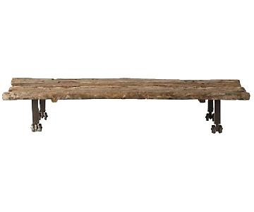 Anthropologie Salvage Wood Coffee Table