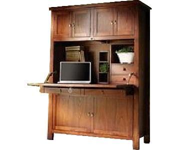 Arhaus Alderson Oak Computer Cabinet