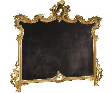 20th Century Venetian Lacquered & Gilt Mirror in Wood