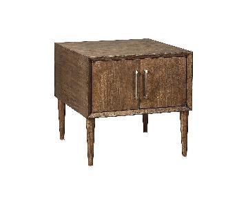 Ashley Furniture Kisper Dark Brown Square End Table