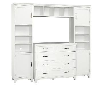 Pottery Barn Hampton 5-Drawer Dresser w/ Shelves & Storage