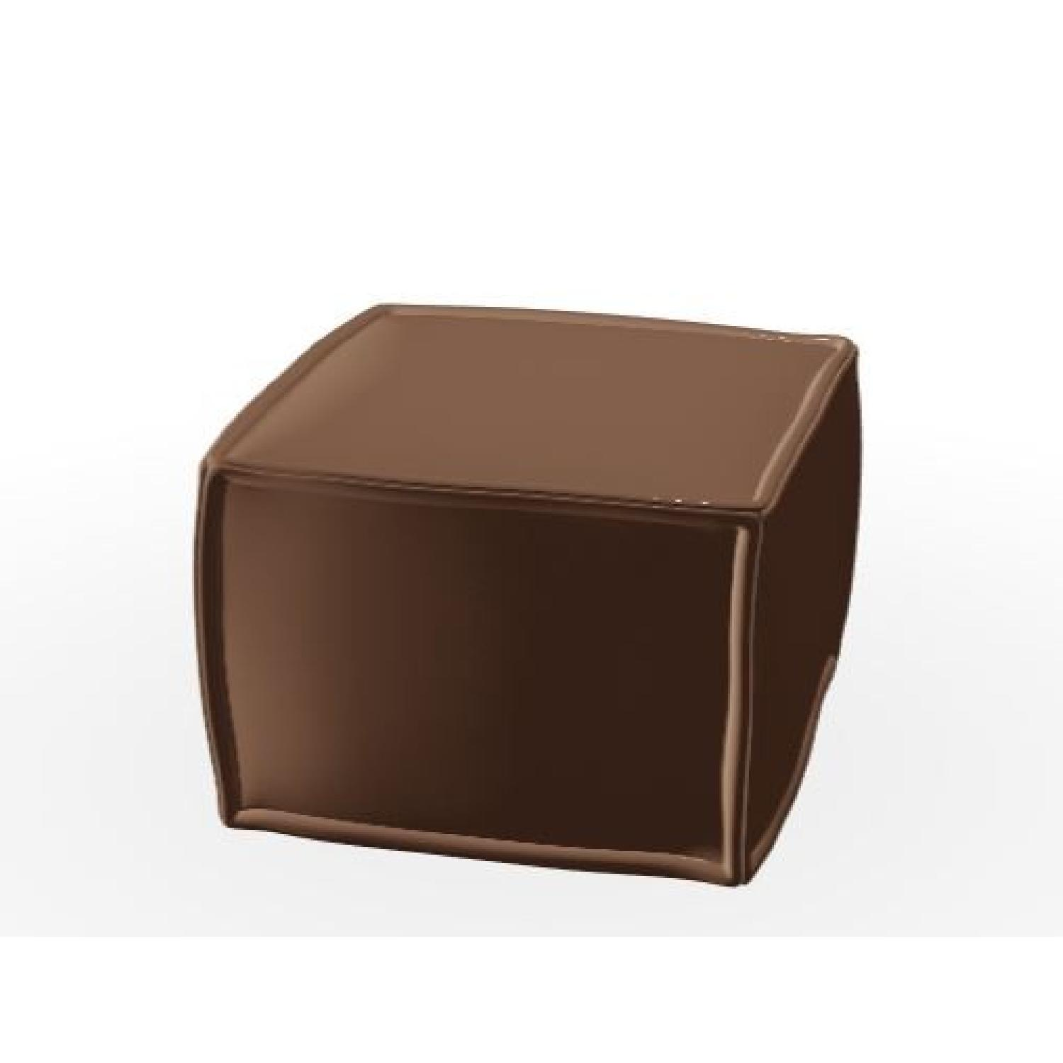 Calligaris Soap Ottoman in Leather