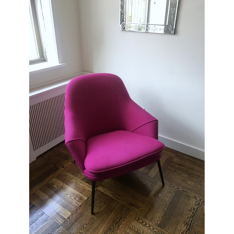 Danish Modern Sculptural Lounge Chair in Kvadrat Upholstery