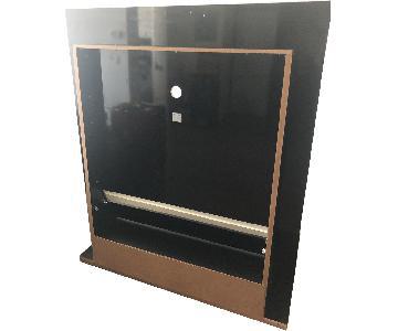 Manhattan Comfort Polished Black Wood TV Mount