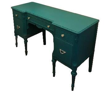 Antique Tiffany Blue Vanity