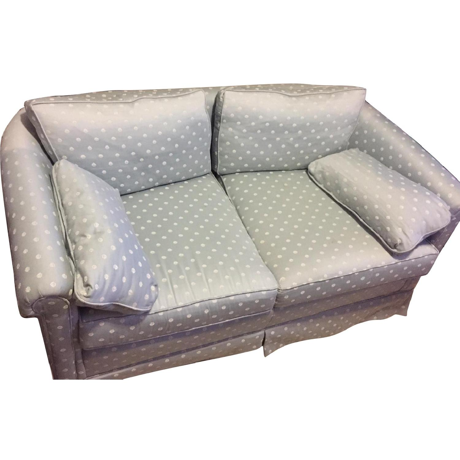 Frederick Edward Pale Blue Upholstered Loveseat