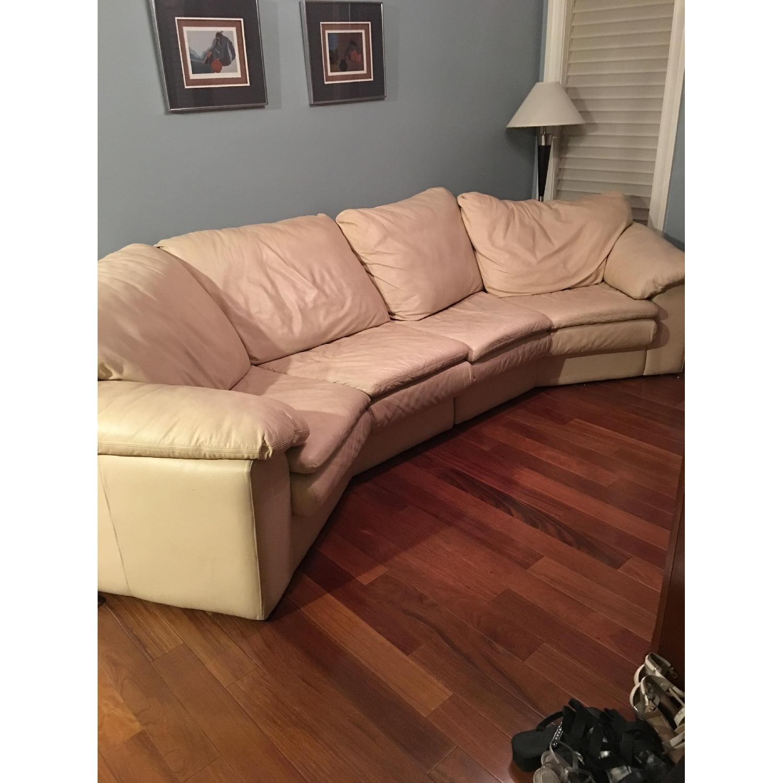 Leather Center Texas Italian Leather Sectional Sofa ...