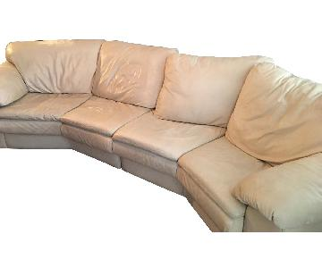 Leather Center Texas Italian Leather Sectional Sofa
