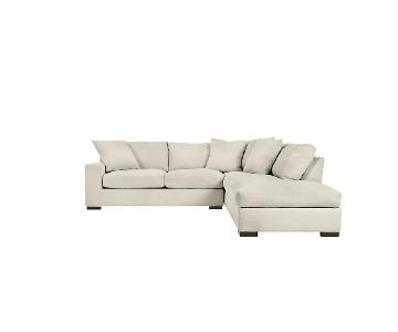 Z Gallerie Del Mar 2 Piece Sectional Sofa