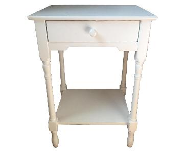 Pottery Barn White 1-Drawer Nightstand