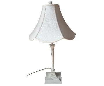 Pottery Barn White Table Lamp w/ Shade