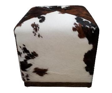 Cowhide Cubed Footstool