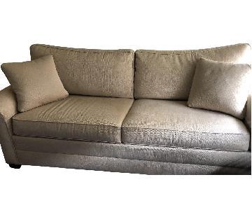 Ethan Allen Bennett Roll Arm Sleeper Sofa