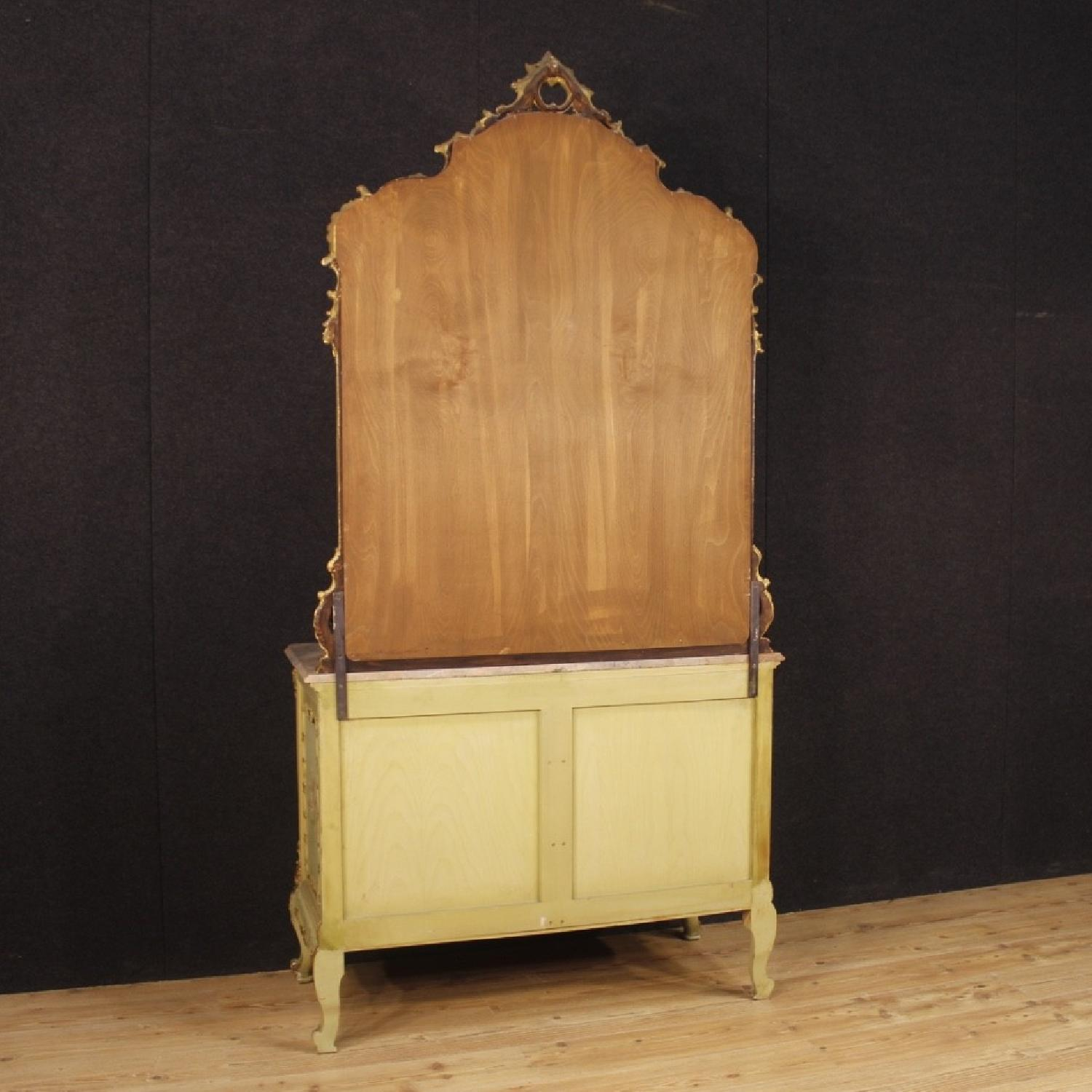Venetian Dresser w/ Mirror in Lacquered Painted Wood