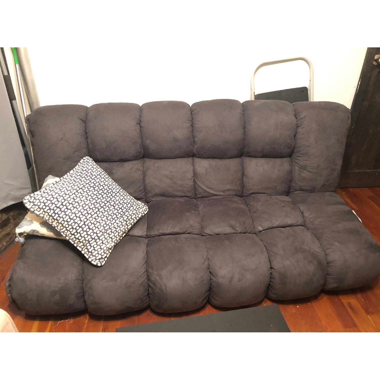 NathanielHome Gavin Convertible Sleeper Sofa In Dark Purple ...