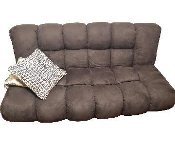 NathanielHome Gavin Convertible Sleeper Sofa in Dark Purple
