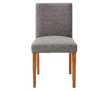 West Elm Porter Upholstered Chairs in Salt & Pepper Tweed