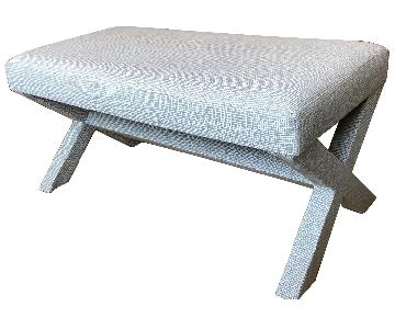 West Elm Cross Base Upholstered Bench