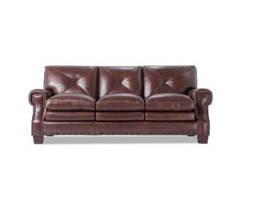 Bob's Kennedy Leather Innerspring Queen Sleeper Sofa