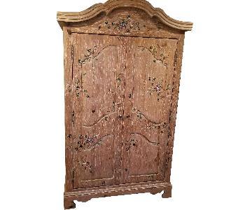 Handmade Wood Armoire