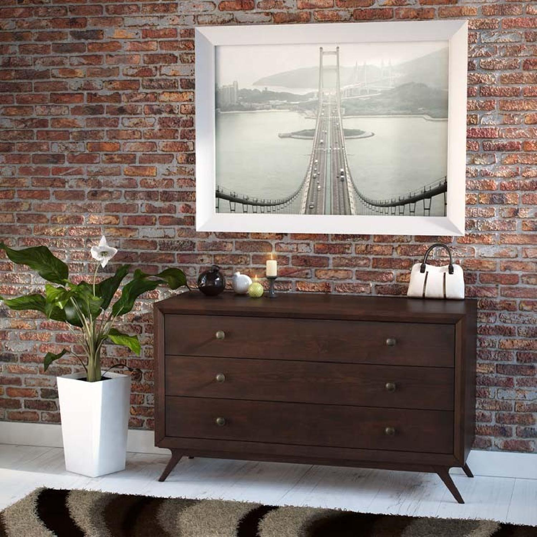 Manhattan Home Design Modern Wood Dresser in Walnut