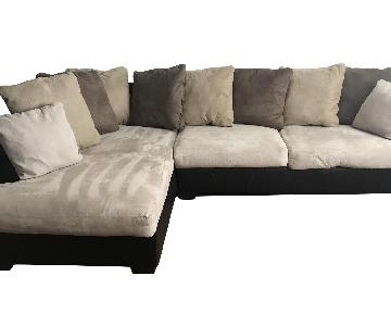 Ligne Roset 2 Piece Sectional Sofa & Ottoman