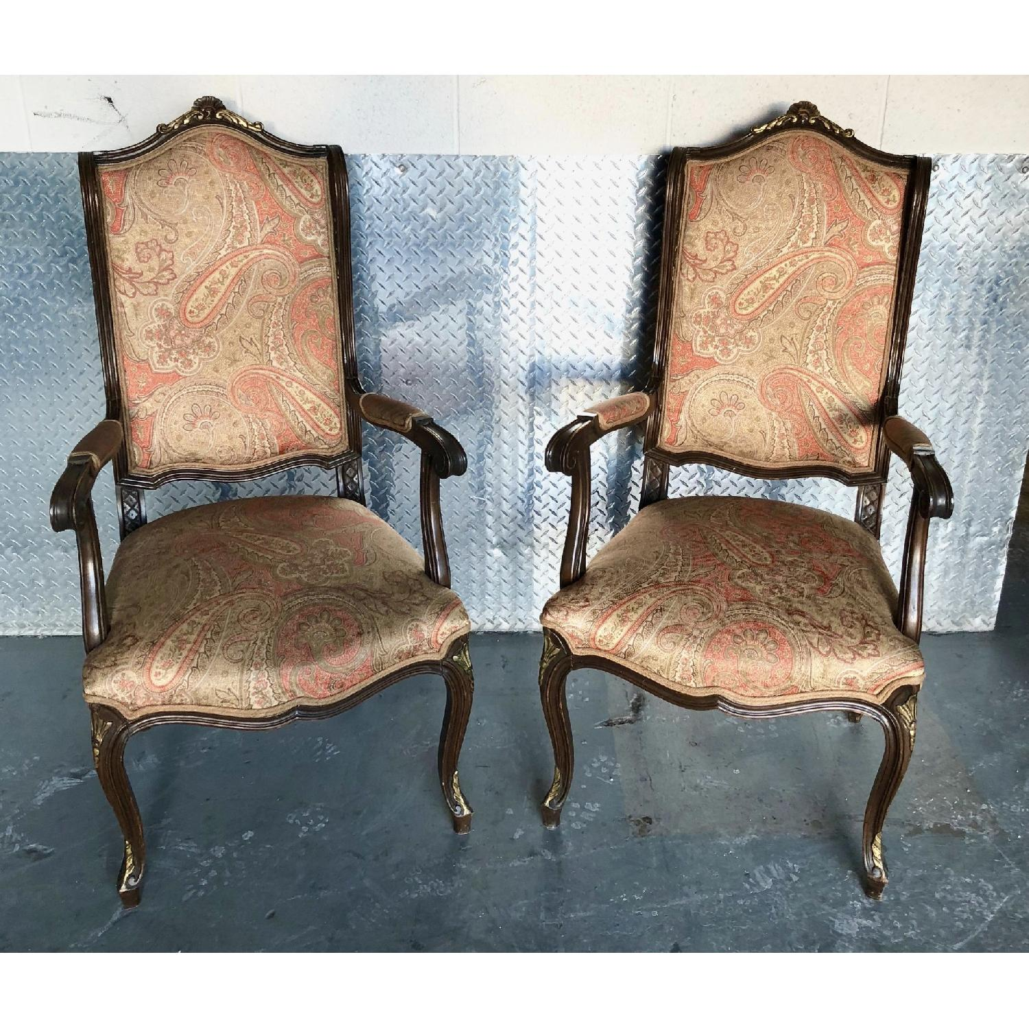 Antique French Chairs Upholstered in Etro Fabric