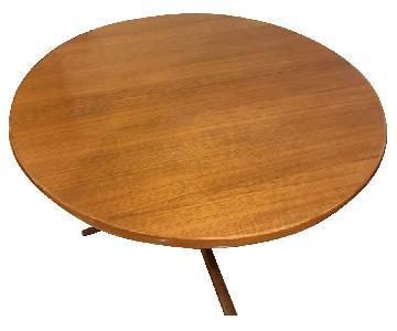 Teakwood Expandable Round Dining Table