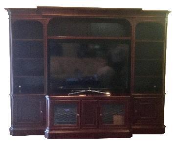 Hooker Furniture Cherry Wood 3 Piece Wall Unit