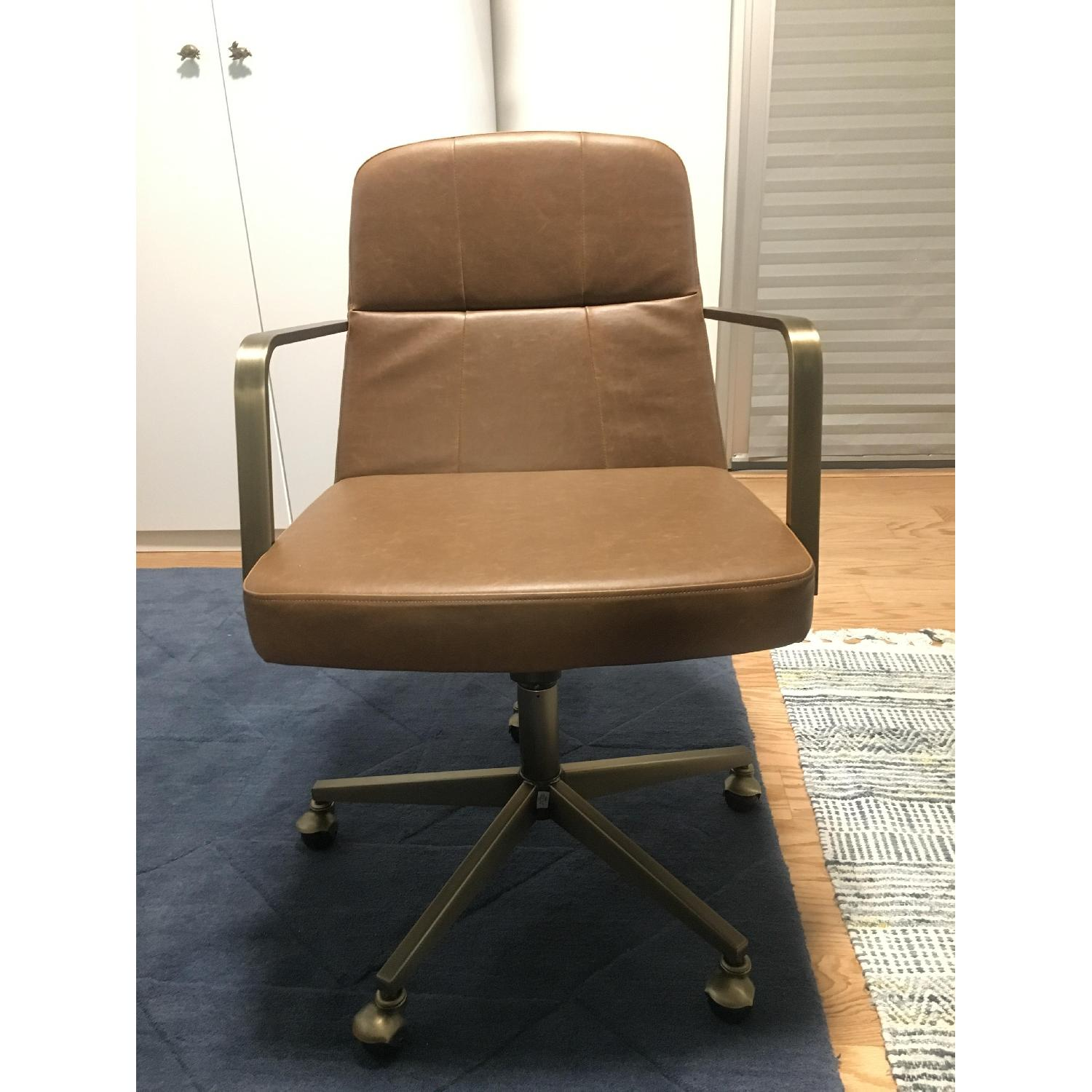 CB2 Draper Faux Leather Office Chair-0