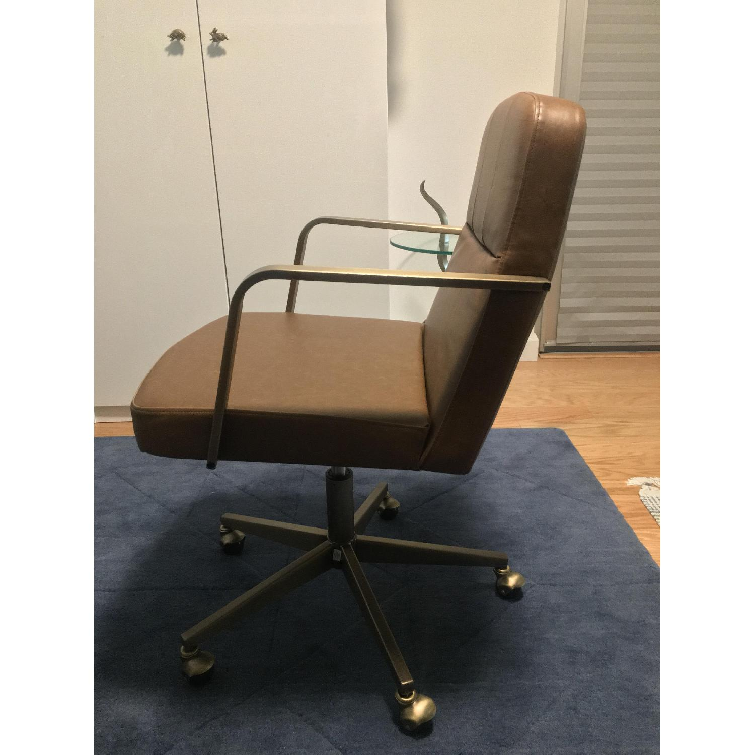 CB2 Draper Faux Leather Office Chair-1
